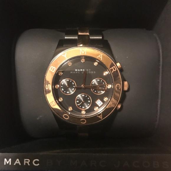 ee6ed41d099 Marc By Marc Jacobs MBM3180 Watch Black Rose Gold.  M 5a4f10269cc7ef12fc0160bb